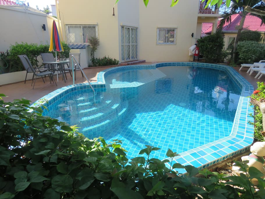 Enjoy our salt-water pool