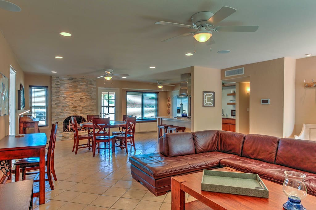 The spacious interior includes a brand new kitchen and tasteful updates throughout.