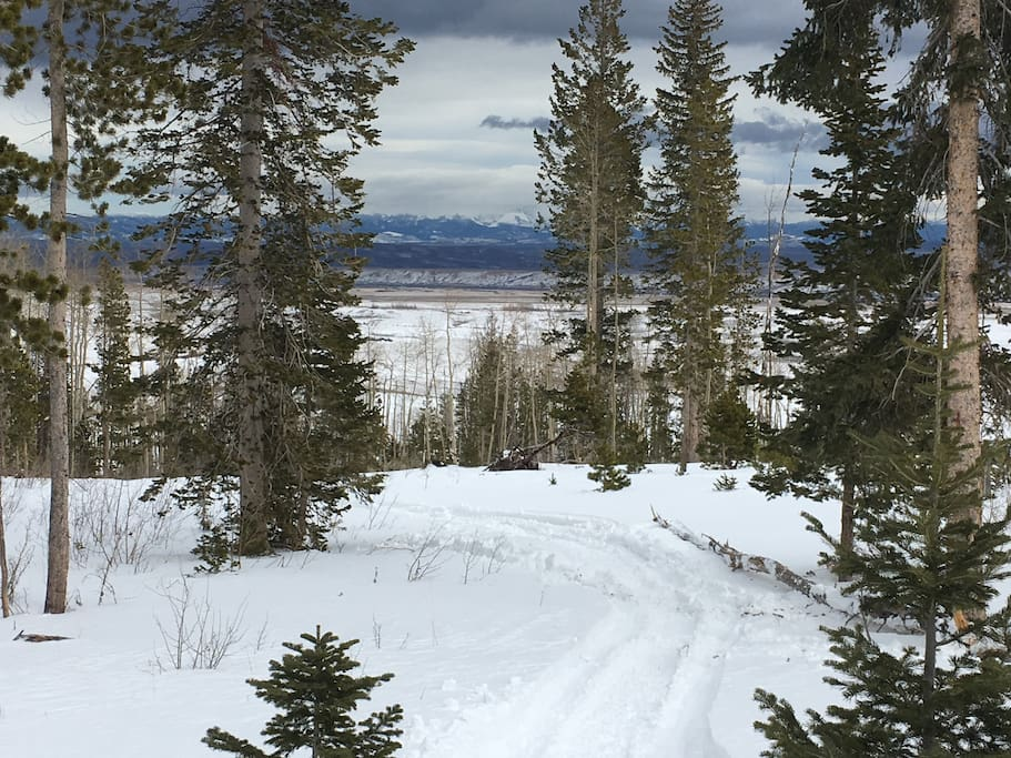 Introducing the Whirlwind Ridge Trail.  Snowshoeing on site.