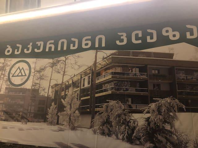 """Отель""""Bakuriani Plaza""""-,построен в январе 2019 г!"""