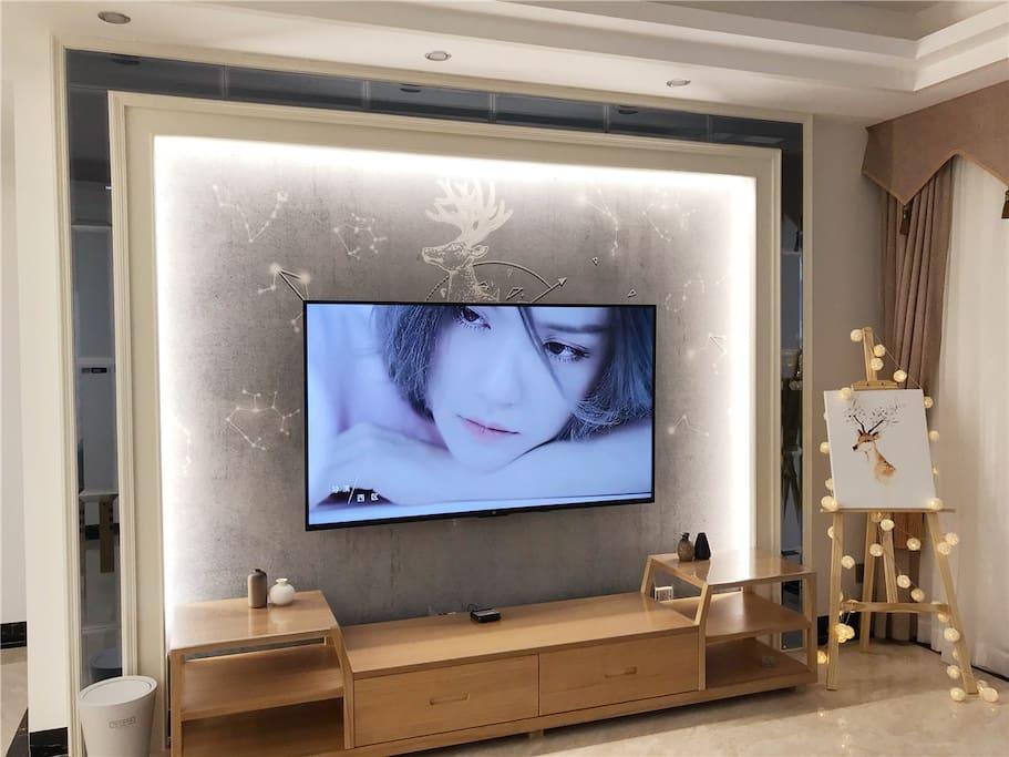 客厅电视背景