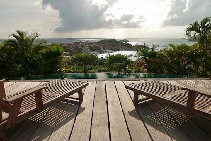 Villa WV FAB - Private estate with panoramic harbor and sunset views - Gustavia - Vila