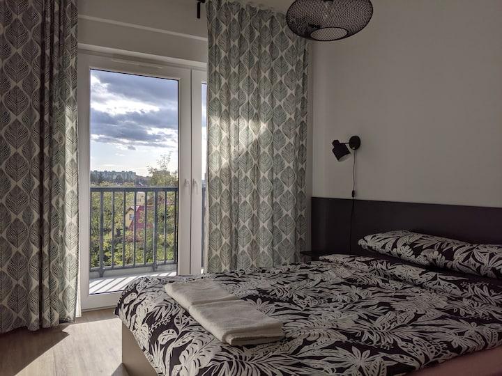 Przytulne mieszkanie z widokiem na Ślężę