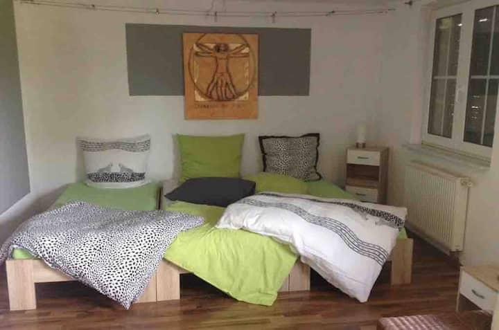 Cheap room 2 guests near Frankfurt/Mainz/Wiesbaden
