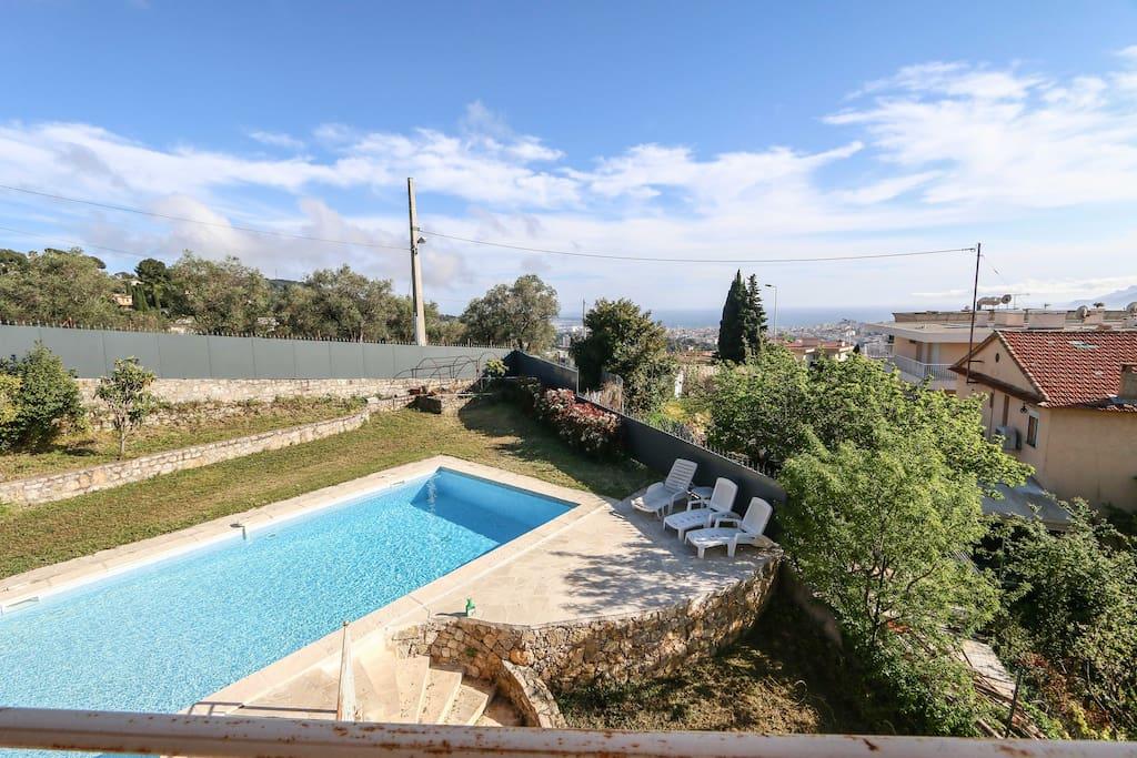 Villa 250m2 vue mer piscine 10 min de cannes villas - Euro plomberie piscine le cannet ...