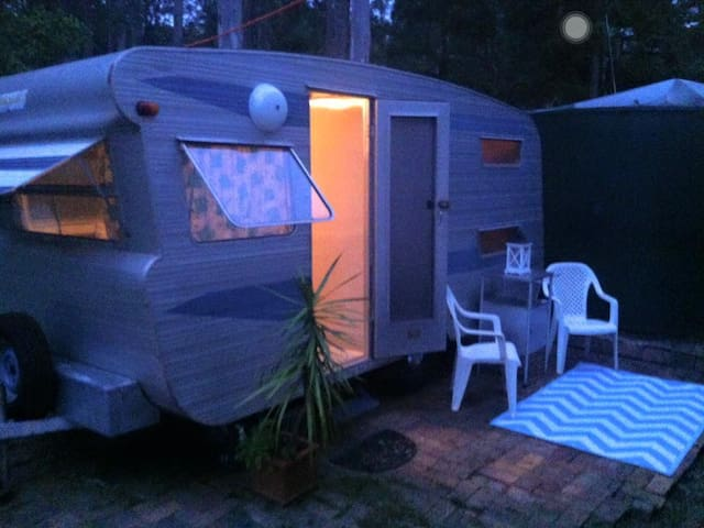 Cosy Clean Caravan on Doonan Acreage Sleeps 3.
