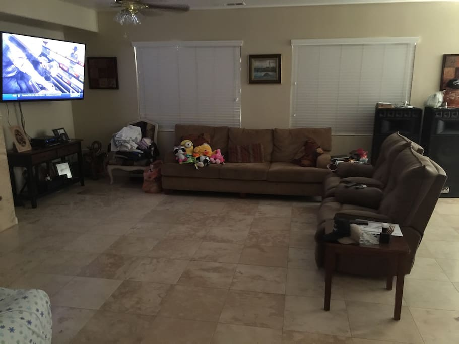 Living room is available to you
