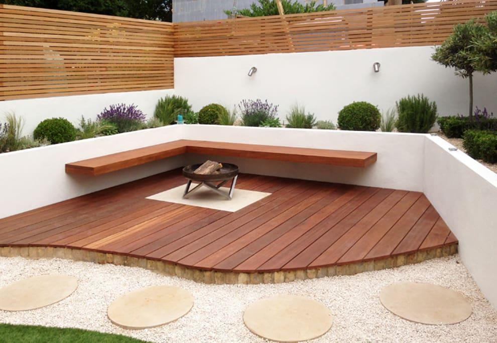 Landscaped Mediterranean garden