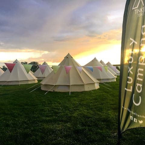 'Glamping' Bristol Bell Tents For Big Groups!