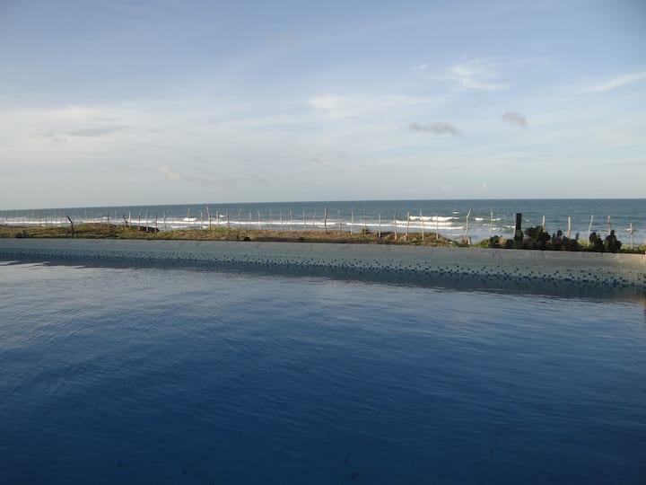 Taiba Beach resort - Casa frente mar, piscina, 1.7