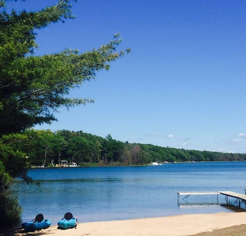 The dock and beach are in as of June 1st 2016!! Sandy beach and swimming hole!!