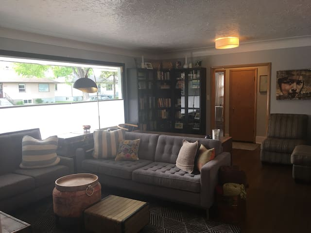 Updated vintage two bedroom plus den with AC