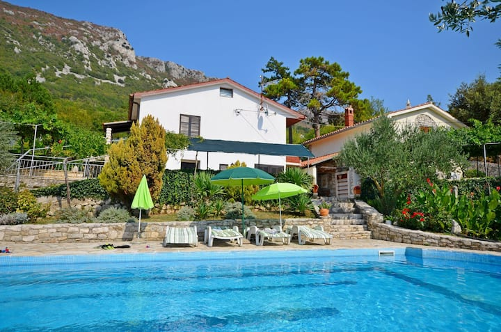 Two Bedroom Stone house, in Plomin, Outdoor pool, Terrace