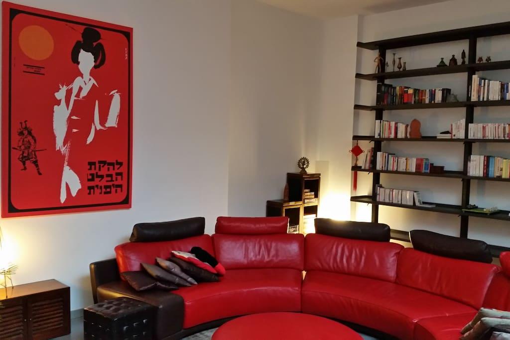 Salon - bibliothèque