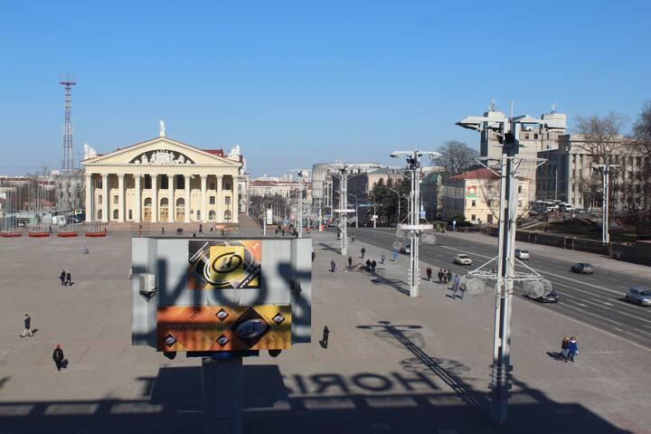 Вид на главную площадь страны. - Minsk - Daire