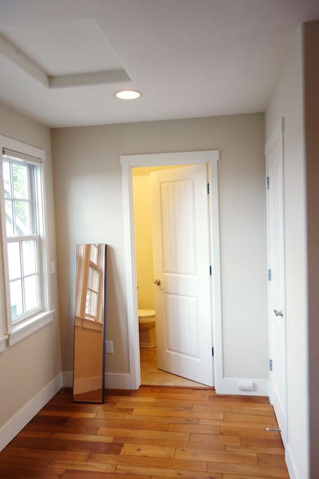 Space in front of bathroom