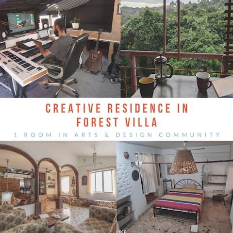 Creative Residence In Forest villa /w music Studio
