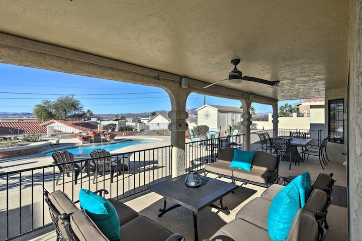 Water-View Retreat w/ Pool <1 Mile to Lake Havasu!