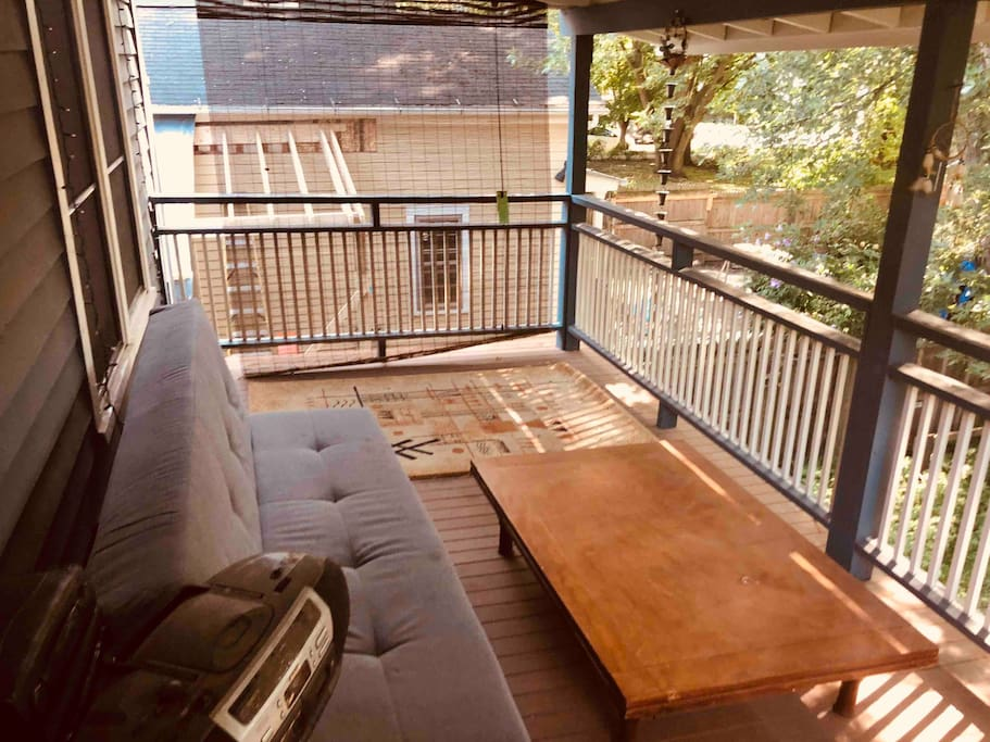 Outside deck. Perfect for relaxing and very private.