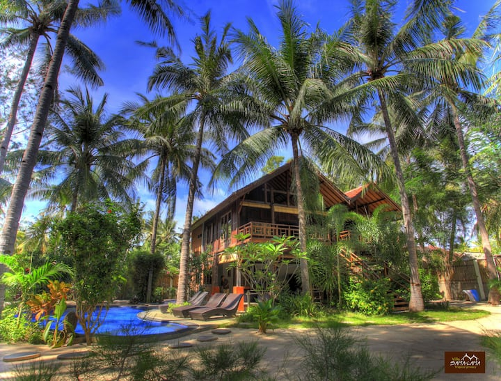 Villa SAMALAMA huge 3BR with pool Gili Trawangan