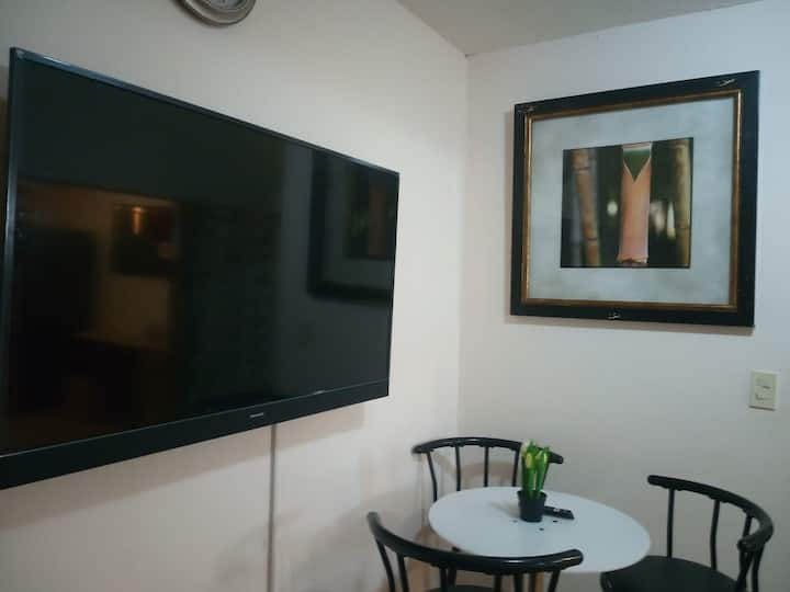 "Tibas, UNIBE University, 50"" TV. Free car Parking"