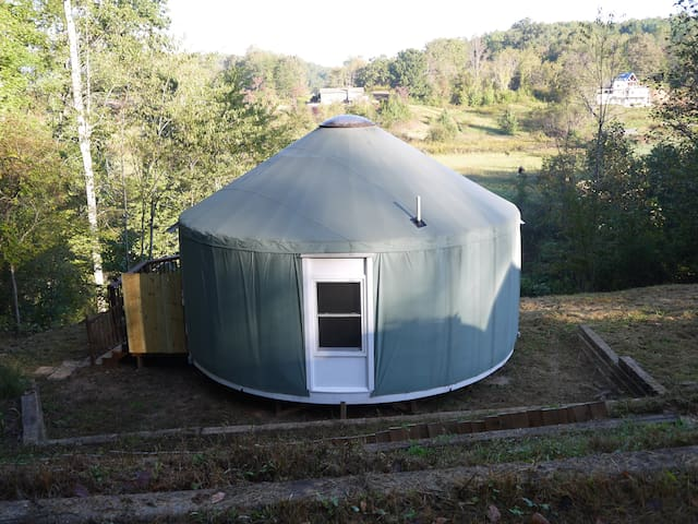 Yurt on the Outside and Tiny House on the Inside