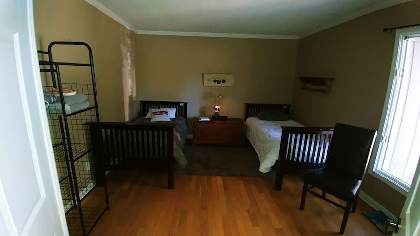 Eastside Bloomington #2:  2 twin beds share bath