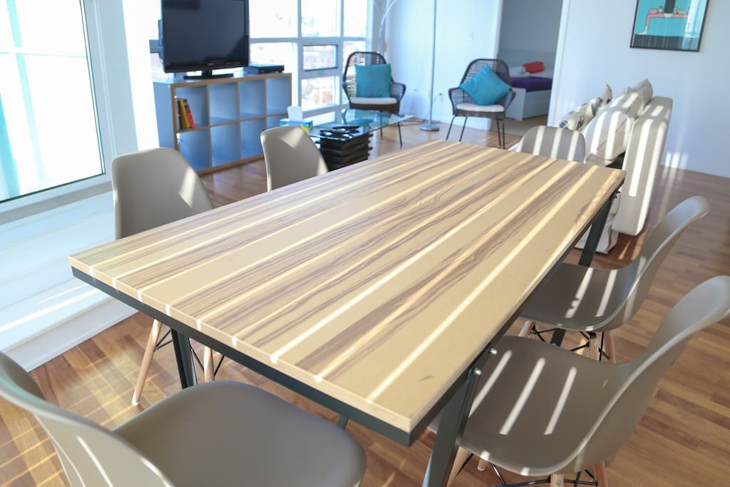 6 sitting dining table