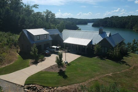 Modern Lake House on Lewis Smith Lake, AL.