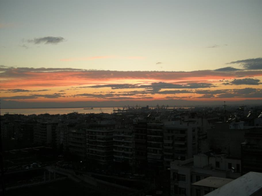Sunset from the apartment