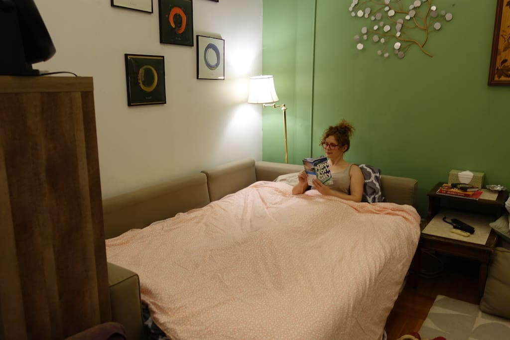 Comfy lodging with guidebooks and advice, extra blankets, pillows, and fans available
