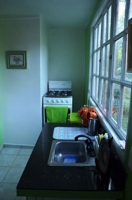 View of the stove