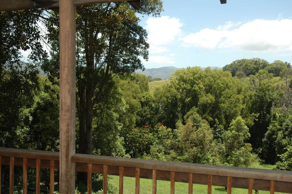 Views from the verandah to the hills of Byron Shire