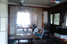 Looking through from dining room into lounge.