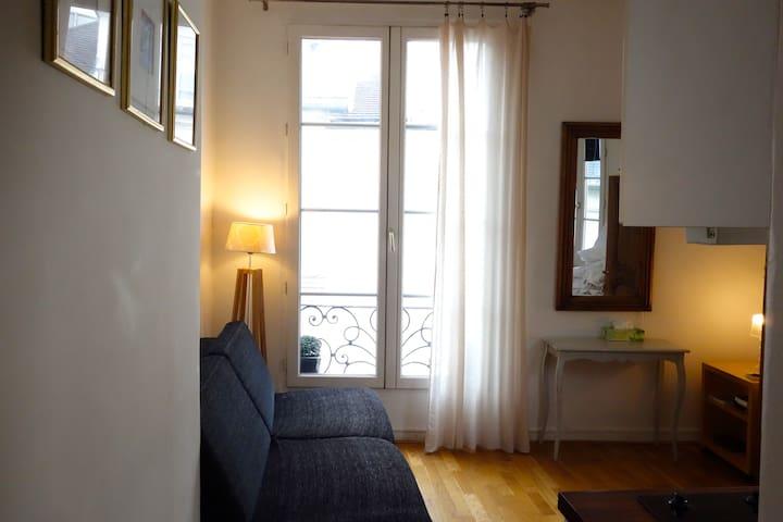 little cosy studio, place des vosges, le marais