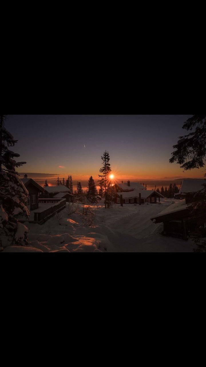 Midt i smørøyet i Trysilfjellet. ski in and out