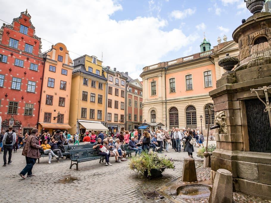 Stortorget; It is the oldest square in Stockholm, the historical centre on which the medieval urban conglomeration gradually came into being. And it's right at your doorstep.