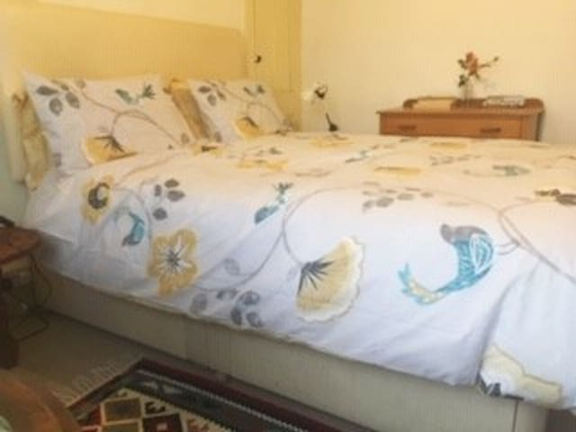 Very comfortable king size bed with deep mattress.