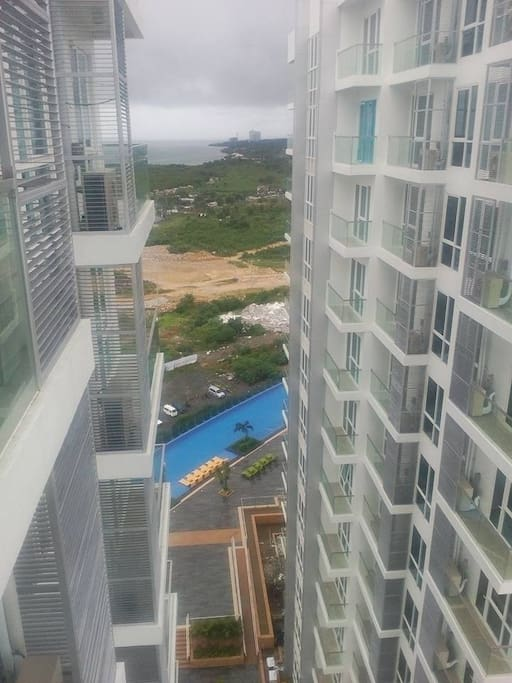 A glimpse of the swimming pool.
