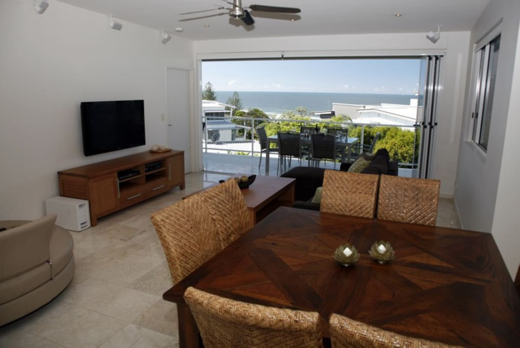 Ocean views from the living/dining
