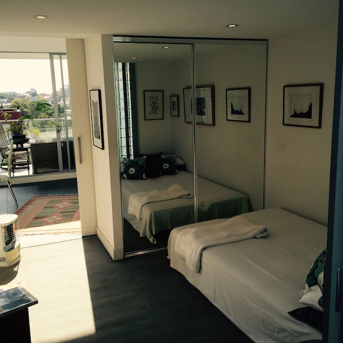 Private double bedroom with TV