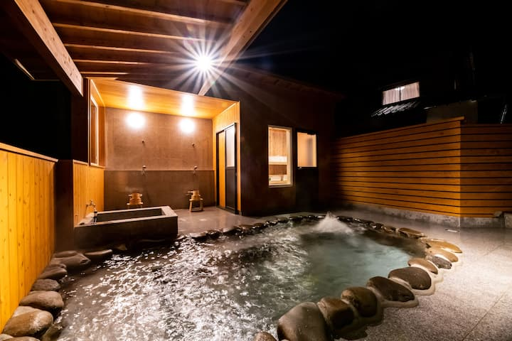 Yuki) 2-story Wooden House &a Huge open-air Onsen.