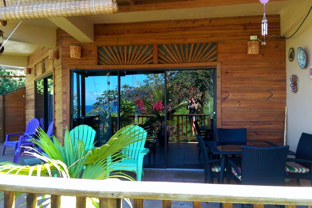 A quiet secluded balcony with a fantastic view