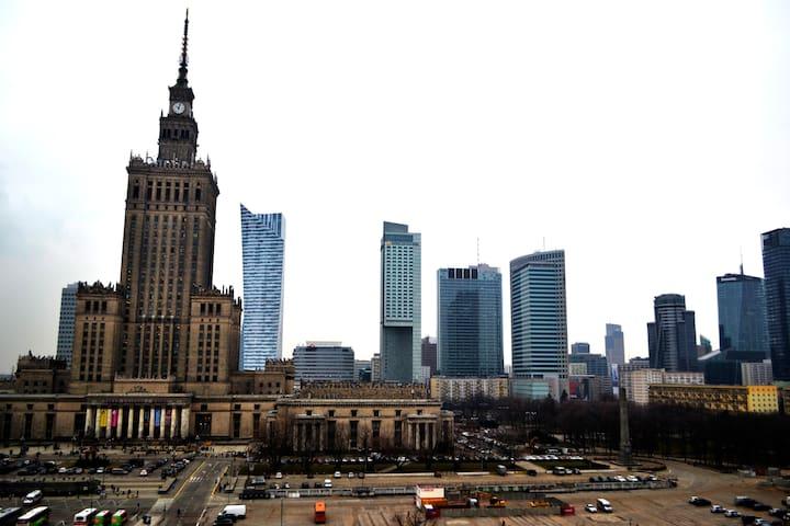 Amazing view of Warsaw skyline, centre, slps 3 - Warszawa - Byt