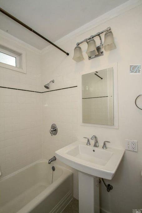 Bathroom, remodeled full shower and bath