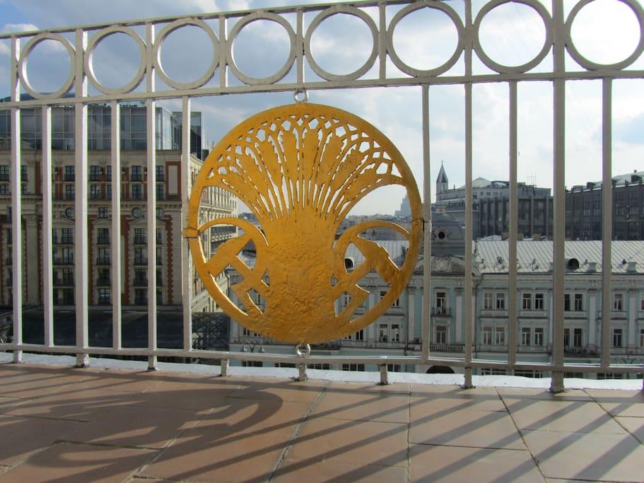 Balcony itself admired!