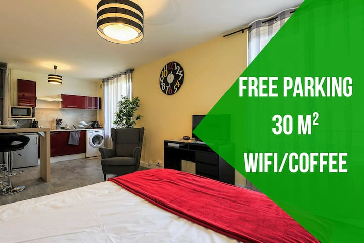 BOUGN'APPART ★★★ FREE PARKING ★ WIFI