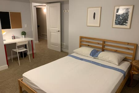 Spacious One bedroom with private bathroom.