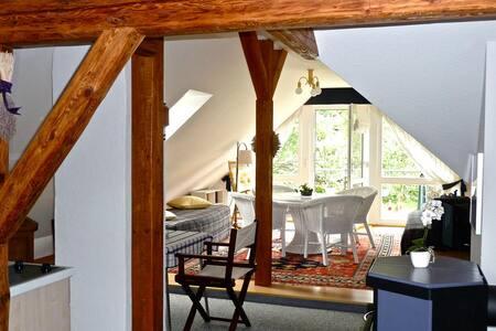 Ruhig und gemütlich mit Bergblick - Oybin - 公寓