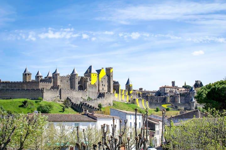 Carcassonne Centre Appart Médiéval Parking Duplex